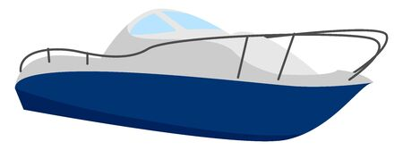 Fast boat, illustration, vector on white background.