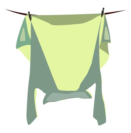 Laundry, illustration, vector on white background. Stock Illustratie