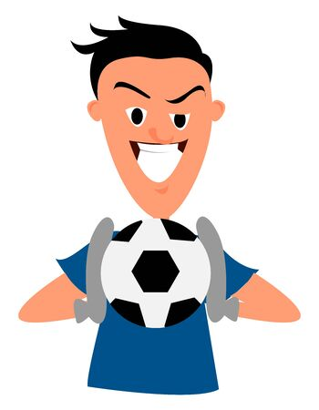 Goalkeeper, illustration, vector on white background.