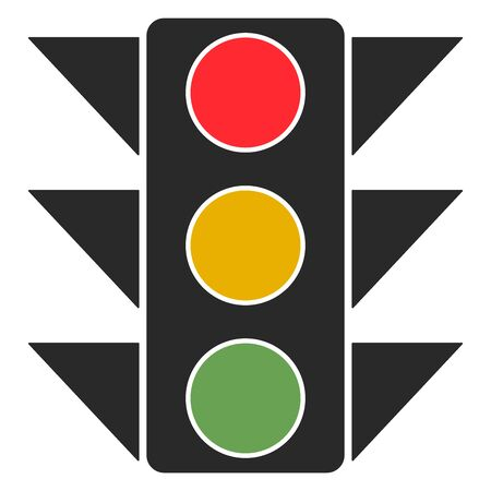 Traffic light, illustration, vector on white background. Banque d'images - 132942731