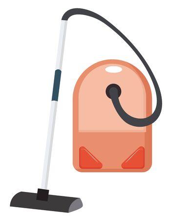 Vacume cleaner, illustration, vector on white background. Illustration