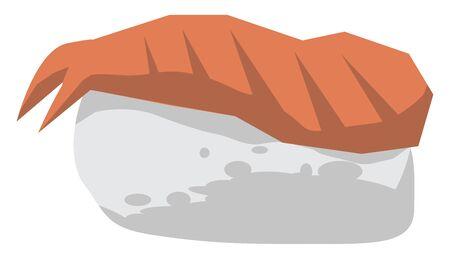 Sushi, illustration, vector on white background. Stock Illustratie