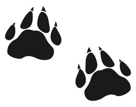 Animals footprint, illustration, vector on white background.