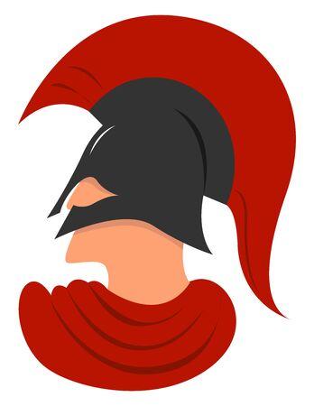 Spartan, illustration, vector on white background. Illustration