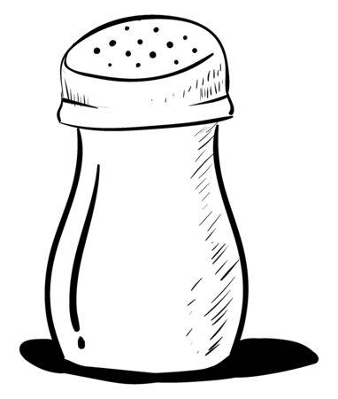 Salt shaker, illustration, vector on white background.