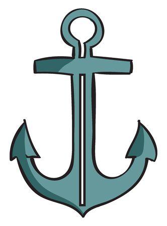 Anchor, illustration, vector on white background. Banque d'images - 132846251
