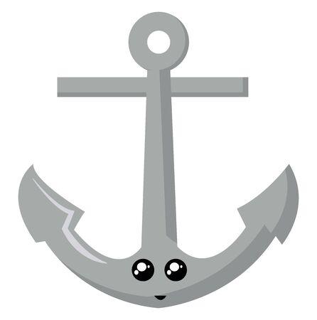Anchor, illustration, vector on white background. Banque d'images - 132849240