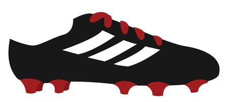 Football cleats, illustration, vector on white background. Ilustração