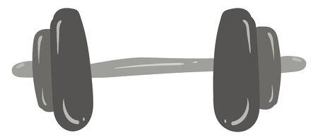 Dumbbell, illustration, vector on white background.