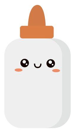 Glue in tube, illustration, vector on white background.