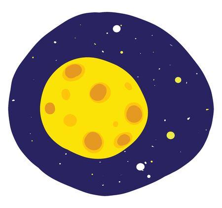 Flat moon, illustration, vector on white background.