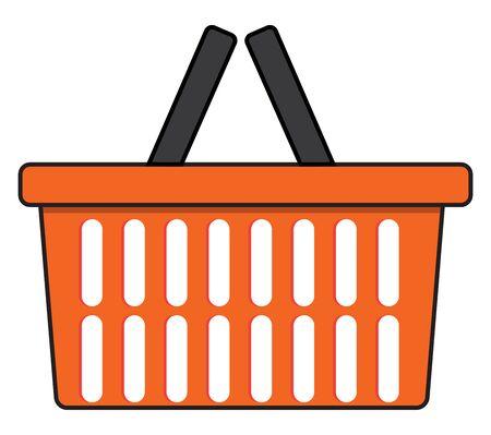 Shopping cart, illustration, vector on white background.