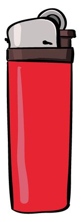 Lighter red, illustration, vector on white background.