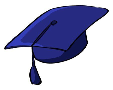 Graduation cap, illustration, vector on white background. 写真素材 - 132847811