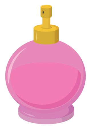 Pink perfume, illustration, vector on white background.