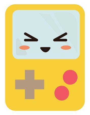 Tetris, illustration, vector on white background. Illustration