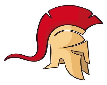 Sparta, illustration, vector on white background. Illustration