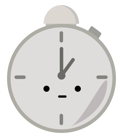 Pocket clock, illustration, vector on white background. Vectores