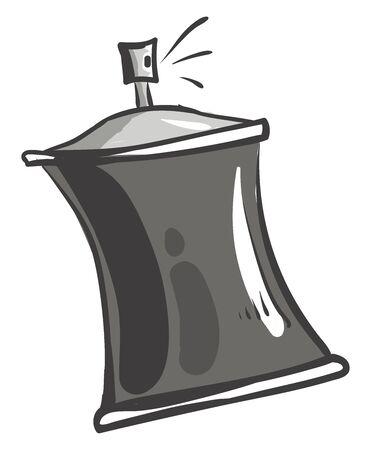 Silver spray, illustration, vector on white background.