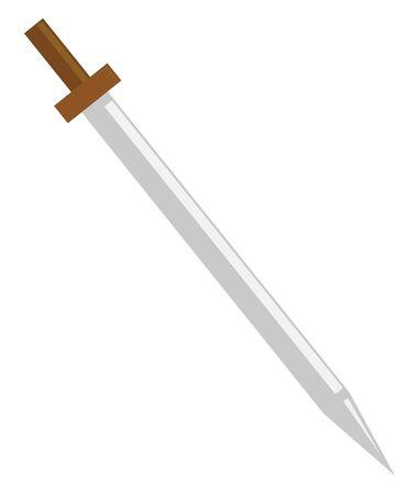 Sword, illustration, vector on white background.
