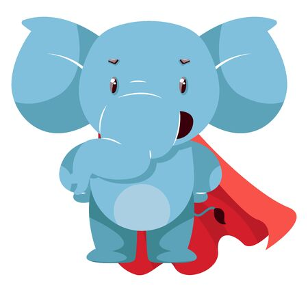 Elephant with red cape, illustration, vector on white background. Ilustrace