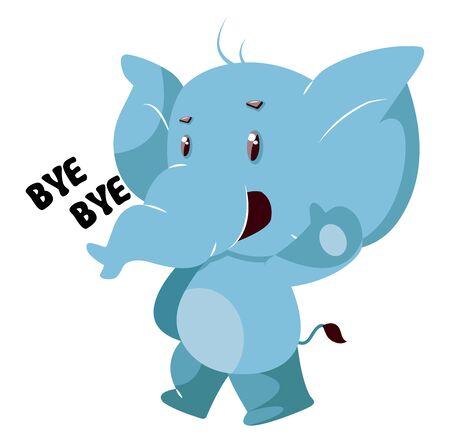 Cute elephant, illustration, vector on white background. Illustration