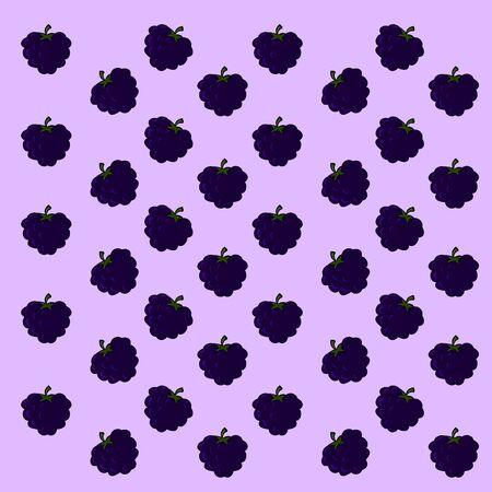 A lot of blackberrys, illustration, vector on white background. Imagens - 132771144