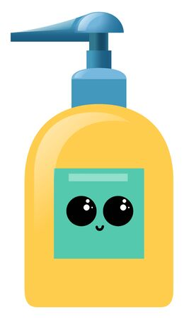 Cute hand soap, illustration, vector on white background
