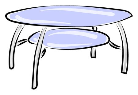 Glass table, illustration, vector on white background