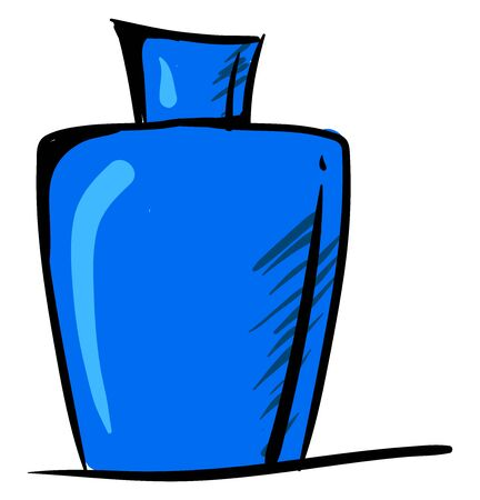 Blue perfume, illustration, vector on white background