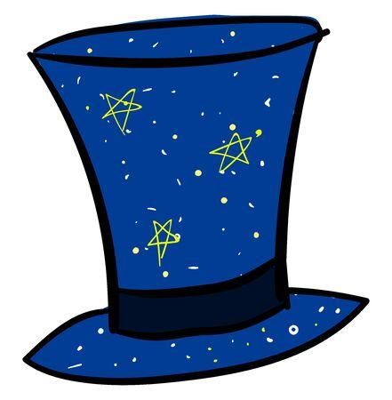 Magic blue hat, illustration, vector on white background