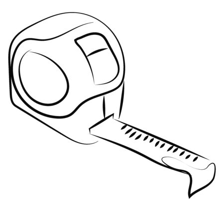 Meter drawing, illustration, vector on white background.