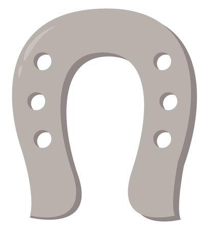 Horseshoe, illustration, vector on white background.