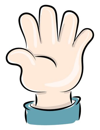 Small hand, illustration, vector on white background.