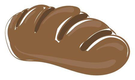 Tasty bread, illustration, vector on white background. Illusztráció