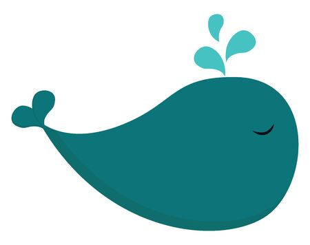 A cute toy of a blue whale, vector, color drawing or illustration. Vettoriali
