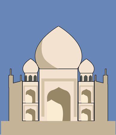 Taj Mahal, illustration, vector on white background. Illusztráció