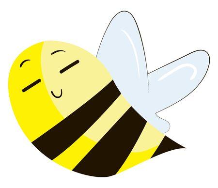 Chineese bumblebee, illustration, vector on white background. Illusztráció