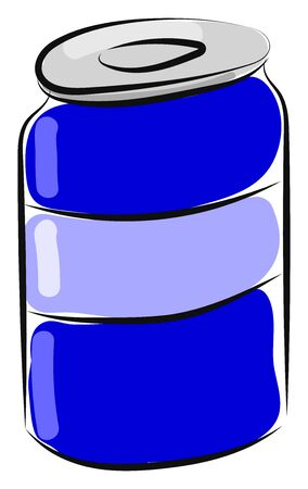 Drink in can, illustration, vector on white background. Stock Illustratie