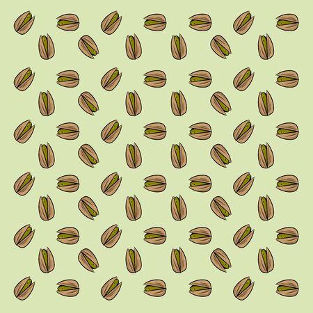 Pistachios wallpaper, illustration, vector on white background 일러스트