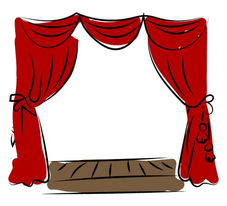 Theater drawing, illustration, vector on white background