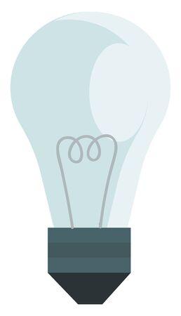 A blue light bulb, vector, color drawing or illustration. Ilustração