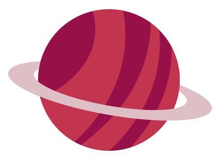 Jupiter planet, illustration, vector on white background.  イラスト・ベクター素材