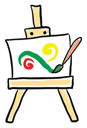 Painting canvas, illustration, vector on white background. Ilustrace