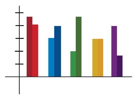 A colorful column chart, vector, color drawing or illustration. Illusztráció