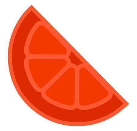 Red orange, illustration, vector on white background Illusztráció