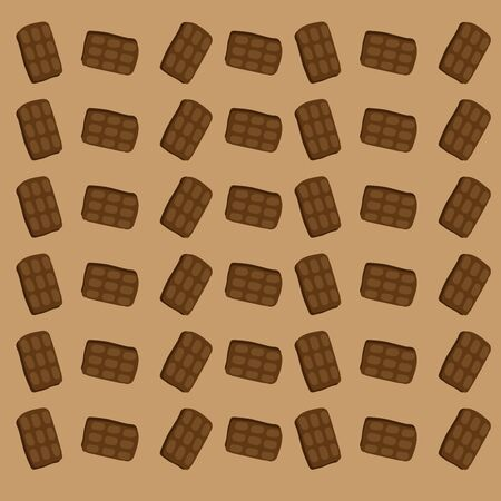 Chocolate wallpaper, illustration, vector on white background.