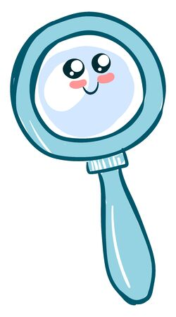 Adorable magnifying glass, illustration, vector on white background. 일러스트