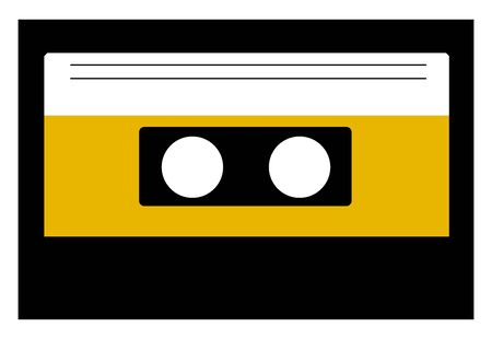 Music cassette, illustration, vector on white background