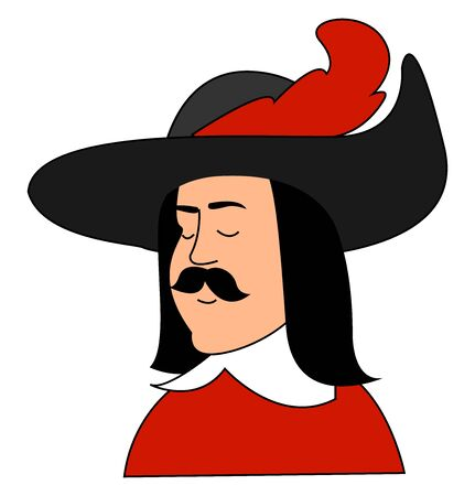 Cardinals guardsman, illustration, vector on white background.